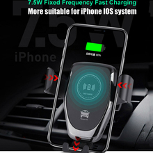 Car Gravity Phone Holder Wireless Charger For iPhone 8 Plus XR XS Max X Qi Fast Samsung Galaxy S10