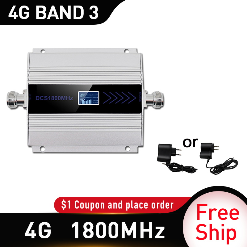 4g Signal Booster Gsm 1800mhz LTE GSM Mobile Signal Booster Repeater DCS 1800Mhz Cellphone Cellular 1800 GSM Cell Phone Russia