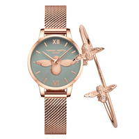 HM Watch Women Watches Fashion Luxury brand Rose Gold little bee Female clock ladies Wrist watch reloj mujer relogio feminino
