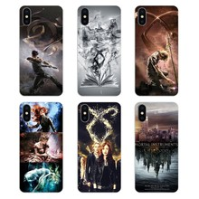 Pour iPod Touch iPhone 4 4S 5 5S 5C SE 6 6S 7 8 X XR XS Plus MAX les Instruments mortels cité des os Shadowhunter sac à couverture souple(China)