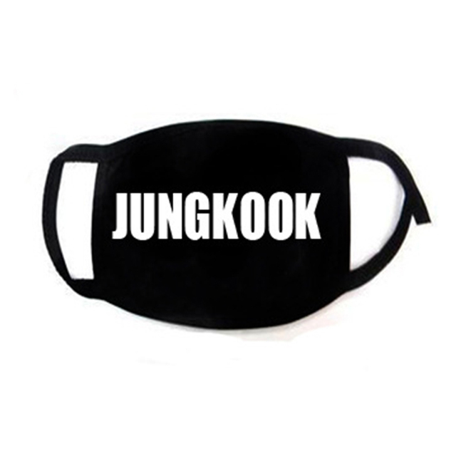 Korean Super Star KPOP Bangtan Boys JIMIN V RM JIN JUNGKOOK SUGA JHOPE The Same Fans ARMY Women Men Black Print Masks Dust Proof 3
