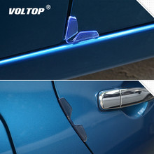 4pcs Universal Car Door Edge Guards Protector Bumper Anti-collision Strips Sticker Auto Scratch Protection Mouldings Clips