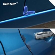 цена на 4pcs Universal Car Door Edge Guards Protector Bumper Anti-collision Strips Sticker Auto Scratch Protection Edge Mouldings Clips
