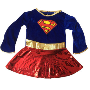 Image 3 - Kids Superhero Cosplay Costumes Super Girls Dress Shoe Covers Suit Superwoman Dress Woman Super Hero For Kids Halloween Clothes