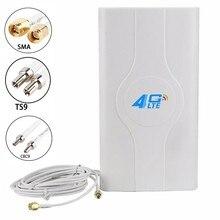 JX Antemma 3G 4G LTE всенаправленная панельная антенна 700 ~ 2600 МГц 88dbi двойной кабель антенна SMA TS9 CRC9 для 3G 4G Модем роутера