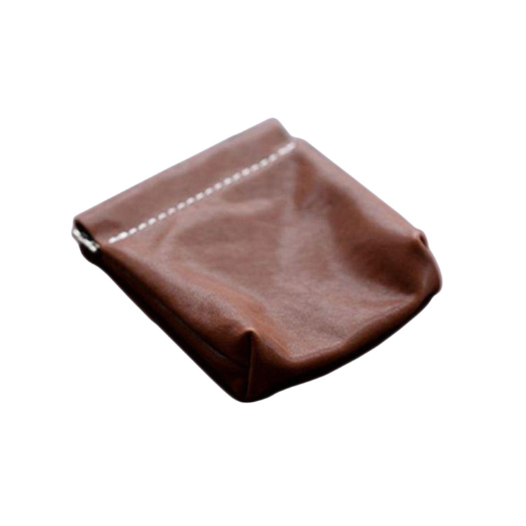 Magic Shrapnel Purse Data Cable Headset Storage Bag Genuine Leather Coin Bag Creative Automatic Closed Wallet
