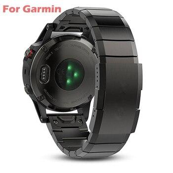 26 22 20mm Watchband For Garmin Fenix 6 6X Pro 5 5X Plus 3HR STAINLESS STEEL Band Fenix6 Fenix5 Watch Quick Release Wrist Strap - discount item  51% OFF Watches Accessories