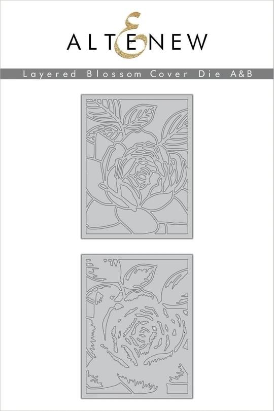 New Design Metal Cutting Dies Cut Die Overlapping Background Flowers 2 Decoration Scrapbooking Album Paper DIY Card Craft