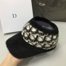 Hat Empty-Top-Hat Knitted Winter Woman Letter for Warm-Cap Fashion Trend Girl Wool Brand
