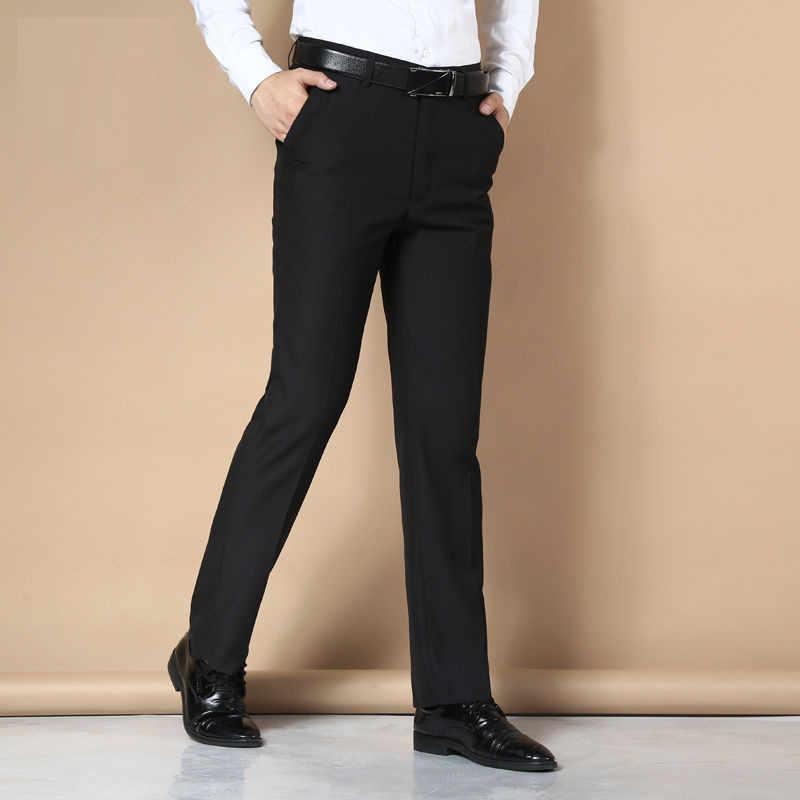 2019 брюки мужской костюм платье повседневные брюки мужские прямые деловые штаны Большие размеры классические мужские брюки мужские
