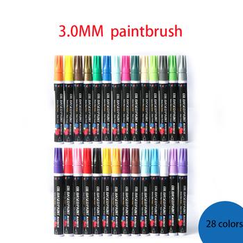 28 kolor marker z farbą marker diy graffiti pen materiały artystyczne materiały malarskie rysunek materiały artystyczne dla dzieci tanie i dobre opinie Zestaw Other 3 0mm-28colors