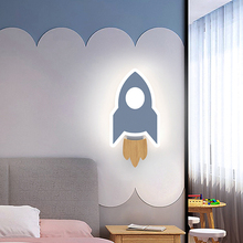 Bedroom Wall Lamp for Children Nordic Minimalism INS Princess Room Adorns Background Wall Lamp Interior LED Light