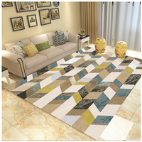 Nordic national wind flower carpet Indian modern home living room bohemian bedroom coffee table crystal Velvet rug customization