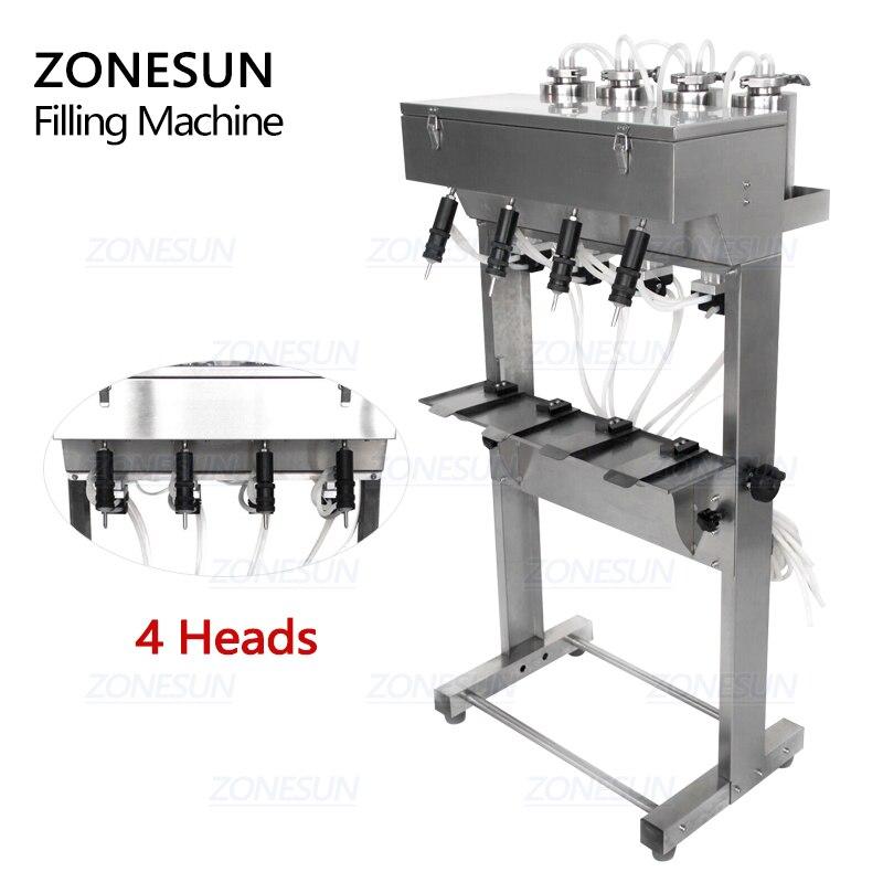 ZONESUN próżniowa płynna maszyna do napełniania perfum mleko woda do mycia oczu kosmetyki napój pneumatyczny wypełniacz sprzęt do napełniania butelek