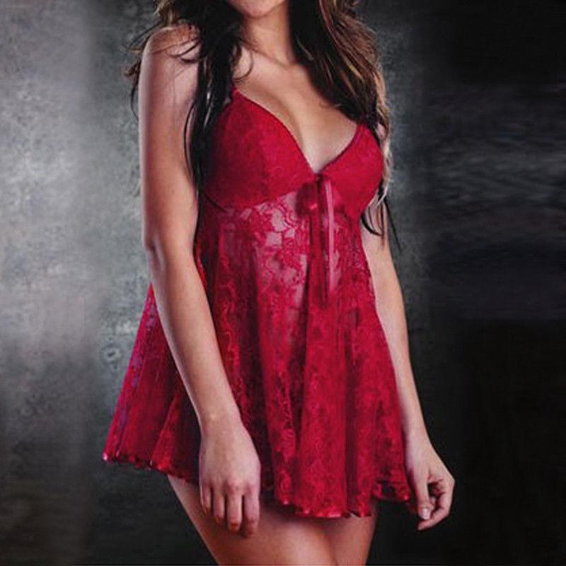 Erotic Women G-string Lace Sleepwear Chemises