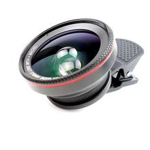 Professional 2 In 1 Smartphone HD Lens Kit 0.6X Super Wide Angle lenses + 15X Macro Camera Lens With Universal Cell Phone Clip
