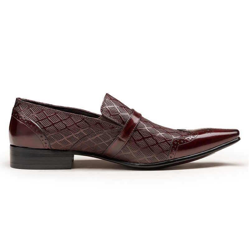 קצה כנף גברים רשמיות נעלי שמלת נעליים להחליק על הבוהן מחודדת נעלי אוקספורד עסקי נעלי עבודת נעלי זכר אופנה אבזם גדול הנעלה