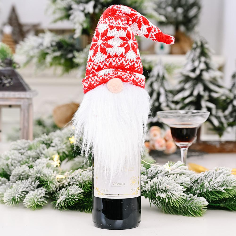 2020 New Christmas Wine Bottle Covers Gnomes Wine Bottle Toppers