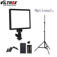Viltrox L116T Lcd ディスプレイ 2 色 & 調光可能なスリムデジタル一眼レフビデオ Led ライトオプションバッテリー + AC アダプタカメラ DV ビデオカメラ