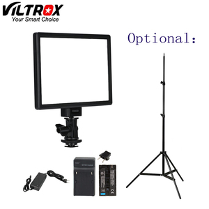 Image 1 - Viltrox L116T lcd ekran iki renkli ve kısılabilir ince DSLR Video led ışık isteğe bağlı pil + AC adaptörü kamera DV kamera için kamera