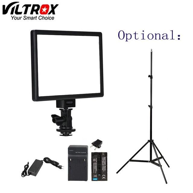Viltrox L116T lcd ekran iki renkli ve kısılabilir ince DSLR Video led ışık isteğe bağlı pil + AC adaptörü kamera DV kamera için kamera