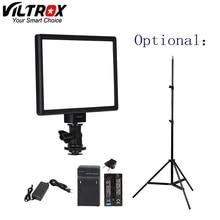 Viltrox tela lcd de bi cores e regulável, luz de led para vídeo dslr, bateria opcional + adaptador ac para câmera dv camcorder