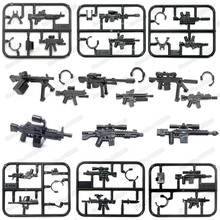 Military Lot Gun Building Blocks Assembly ww2 Mini Weapons Model Moc Figures Army Special Police Equipment Diy Boy Christmas Toy