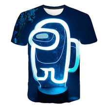 T-Shirt Kids Clothing Kill Blue-Space Among Girls Boys Children Cartoon for Top-4t-14t