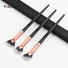 3pcs Small Fan Makeup Brushes Eye Shadow Powder Brushes Smooth Concave Handle Portable Make up Tools Set drop shipping