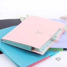 Torba na dokumenty A4 etui na dokumenty Bill Organizer folderów zapięcie szkolne materiały biurowe rozkładana teczka przechowywanie dokumentów