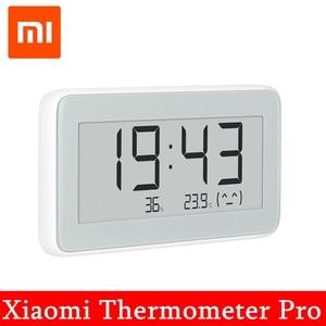 Image 1 - Nowy Xiaomi Mijia higrometr termometr Pro bezprzewodowy inteligentny elektryczny zegar cyfrowy kryty i odkryty LCD narzędzie do pomiaru temperatury