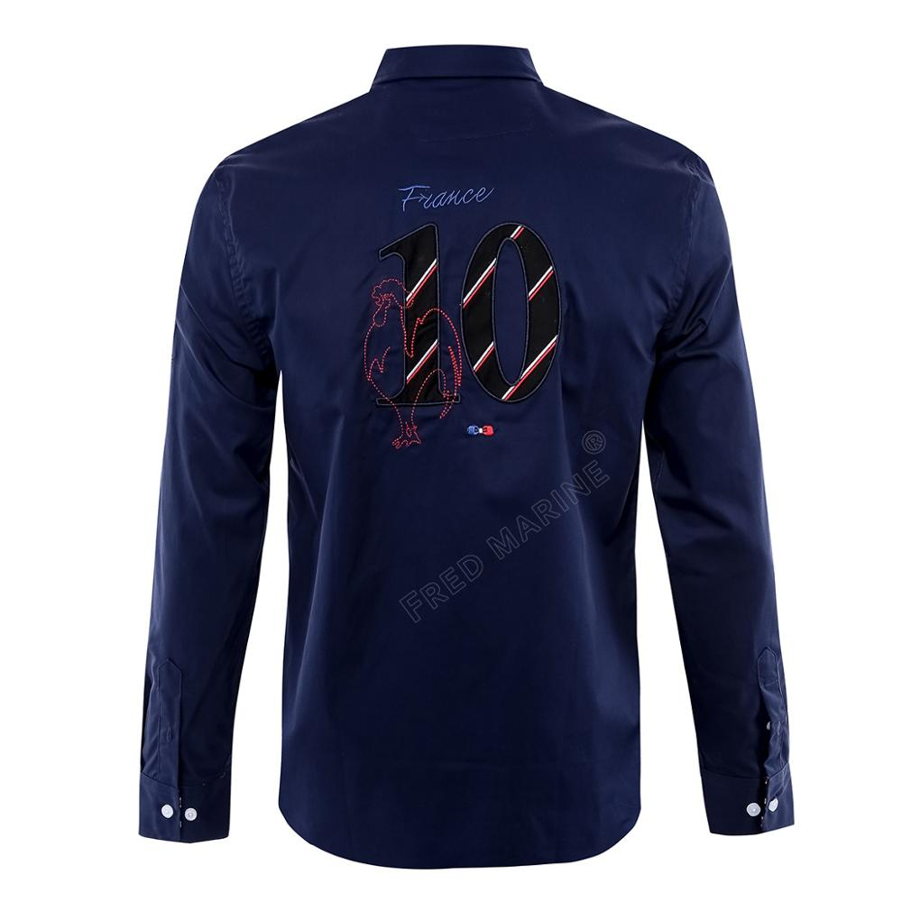 french brand design park shirts men's  embroidery long sleeve casual shirt men eden brand cotton camisa masculina homme 3xl 1