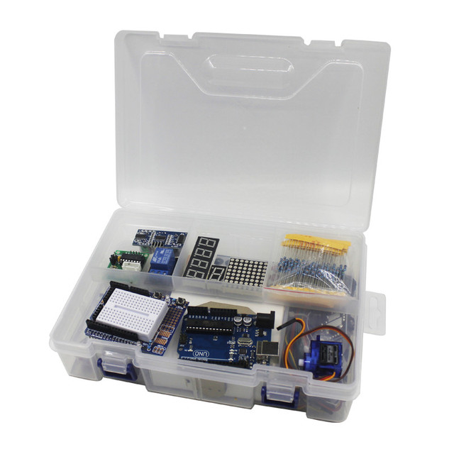 Elego UNO Project The Most Complete Starter Kit for Arduino UNO R3 Mega2560 Nano with Tutorial / Power Supply / Stepper Motor 3