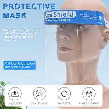 Mascarilla Facial Ultra ligera, de plástico y protección Facial ajustable, a prueba de salpicaduras, Anti-niebla y Anti-gotículas, 10 Uds.