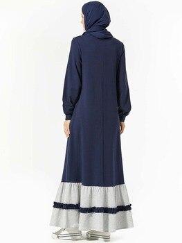 Ramadan Embroidery Muslim Kleider Muslim Dress Vestidos