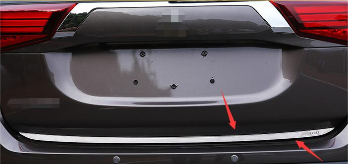For <font><b>2016</b></font> Mitsubishi <font><b>Outlander</b></font> High quality stainless steel Rear Trunk lid trim cover Trunk light bar Car styling image