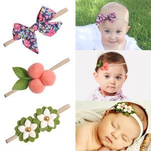 Bandeaux en feutre pour bébé filles | Imprimé de fleurs, bandeau à nœud fait à la main, bandeau pour bébés, accessoires pour cheveux de nouveau-né