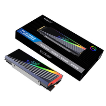 Pccooler 2280 M.2 Heat Sink 5V 3PIN ARGB Addressable RGB Sync M2 SSD Aluminium Cooler Hard Disk Armor Cooling Radiator