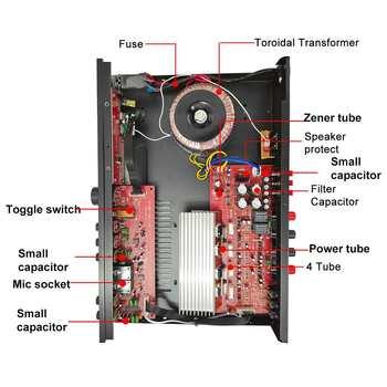 Усилитель мощности SUNBUCK AV-608BY, Bluetooth 4