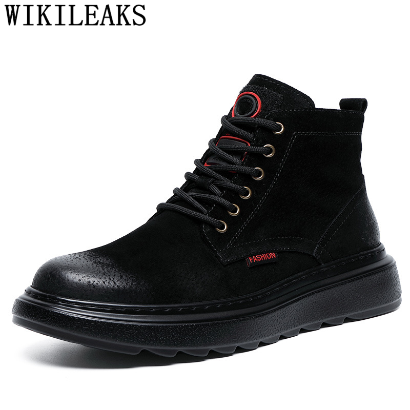 Men Boots Genuine Leather Ankle Boots Men Winter Shoes Men Desert Boots Chaussure Homme Buty Meskie <font><b>Erkek</b></font> Ayakkabi <font><b>Askeri</b></font> <font><b>Bot</b></font> image
