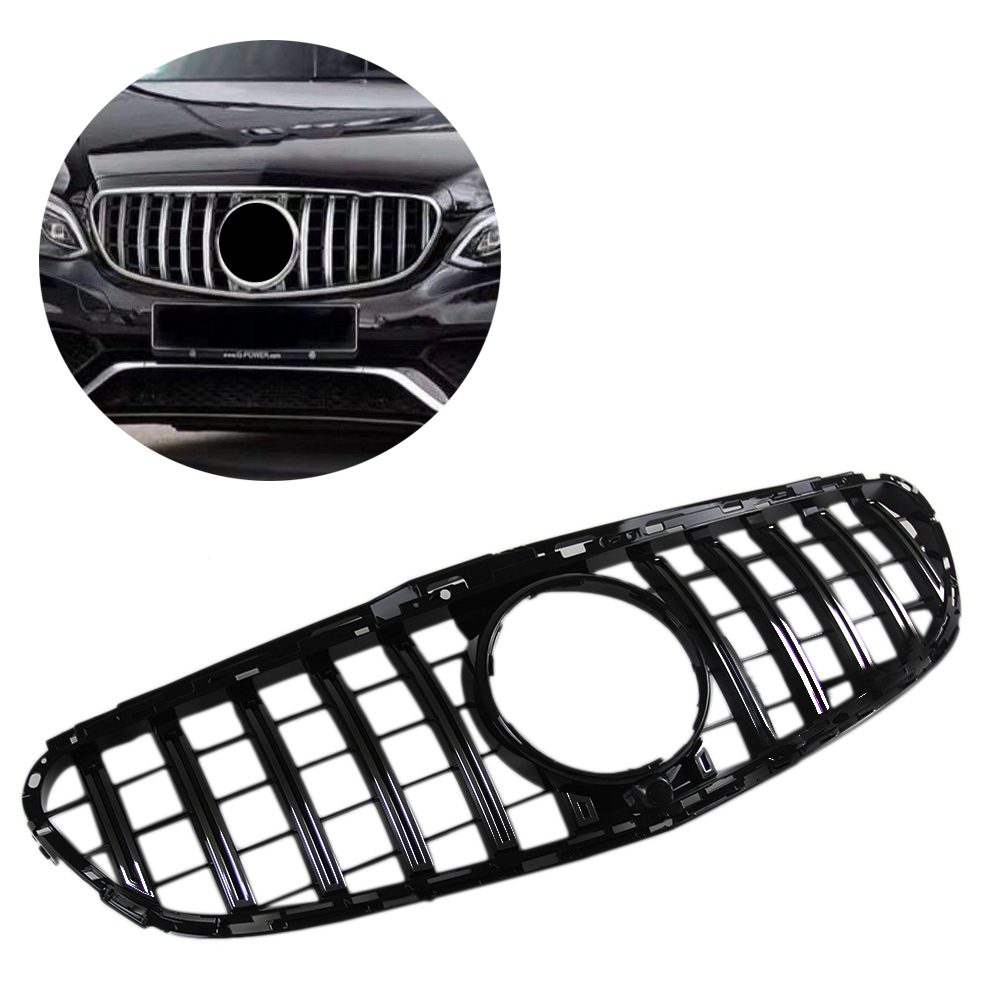 <font><b>W212</b></font> Car Front Grille E Class GT Black <font><b>Grill</b></font> For 2014 2015 2016 <font><b>Mercedes</b></font> Benz <font><b>W212</b></font> Sedan E200 E250 E300 E350 E400 E500 No logo image
