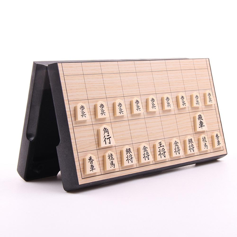 Japan Shogi Magnetic Folding Shogi Set Japanese Chess Game On For Family Party Kids Gift Board Games 25*25cm With 40PCS Chessman