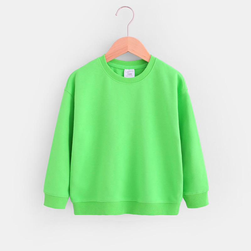Kids Boys Solid Color T-shirts Sweatshirt Tops Baby Long Sleeve Children Autumn Spring Boy Girl Cotton T Shirts Clothes 2