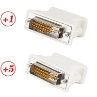 Adaptador para DVI D macho a VGA hembra, adaptador VGA a DVI / 24 + 1pin / 24 + 5 pin macho a VGA hembra