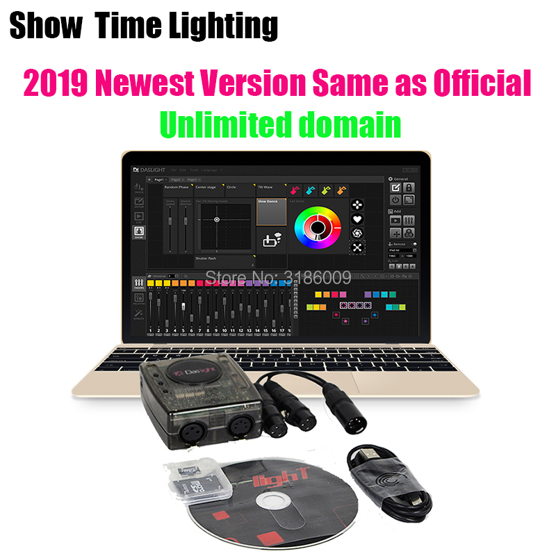 Newest Version Powerful Daslight DVC4 DMX Software Stage Light Controller Computer Control DJ Stage Light USB Lighting Interface