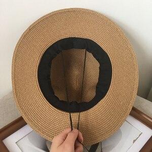 Image 5 - Sombrero de paja jazz para primavera y verano, gorro de sol transpirable, gorro de joker para viaje en la calle