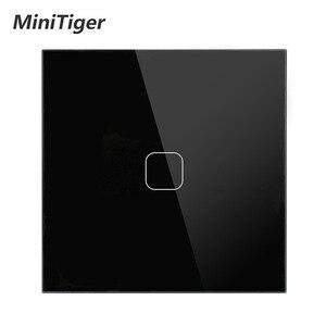 Image 1 - Ab standardı dokunmatik anahtarı 1 Gang 1 yollu duvar işık dokunmatik ekran anahtarı kristal cam Panel LED