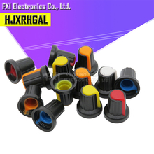 5 değer * 6 adet = 30 adet WH148 potansiyometre topuzu kapağı (bakır çekirdek) 15X17mm AG2 sarı turuncu mavi beyaz kırmızı