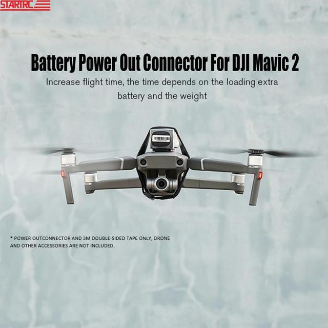 STARTRC Mavic 2 Battery Power Out Connector Battery Adapter Increase Flying Time / lights connect For DJI Mavic 2 Accessories