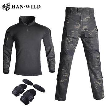 G3 Tactical Camouflage Military Uniform Clothes Suit Men US Army Clothes Airsoft Military Combat Shirt + Cargo Pants Knee Pads men camouflage military tactical uniform clothes hunting clothes gear tactical shirt army combat shirt cargo pants knee pads